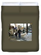 Walking With Dad Duvet Cover