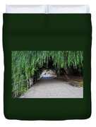 Walkway By The River Duvet Cover
