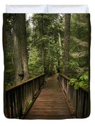 Walkway Into Paradise Duvet Cover