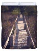 Walkway Through The Reeds Appalachian Trail Duvet Cover by Edward Fielding