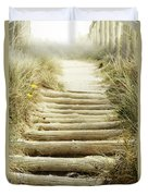Walkway To Beach Duvet Cover