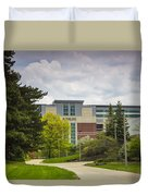 Walkway To Spartan Stadium Duvet Cover
