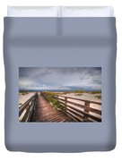 Walkway To The Beach At Romar Access Duvet Cover