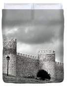 Wall Against Clouds Duvet Cover