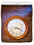 Wall Clock 1 Duvet Cover by Douglas Barnett