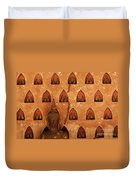 Wall Of Buddhas Duvet Cover