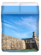 Wall Of Cartagena Colombia Duvet Cover