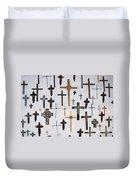 Wall Of Crosses Duvet Cover