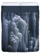 wall of ice in Partnach gorge 3 Duvet Cover