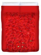 Wall Of Red Roses Duvet Cover