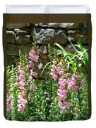Wall Of Snapdragons Duvet Cover