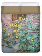 Wall Of Sunflowers 1 Duvet Cover