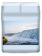 Wall Of Water Duvet Cover