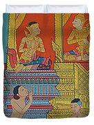 Wall Painting 2 In Wat Po In Bangkok-thailand Duvet Cover
