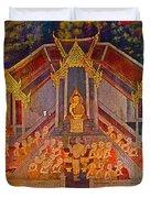 Wall Painting 3 At Wat Suthat In Bangkok-thailand Duvet Cover