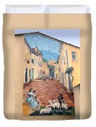 Wall Painting In Provence Duvet Cover