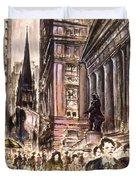 New York Wall Street - Fine Art Duvet Cover