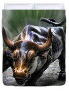 Wall Street Bull Duvet Cover