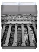 Wall Street New York Stock Exchange Nyse Bw Duvet Cover