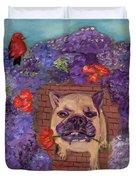 Wallace In The Garden Duvet Cover