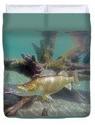Walleye And Dardevle Duvet Cover