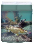 Walleye Pike And Dardevle Duvet Cover
