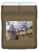 Walls Of Carcassonne Duvet Cover