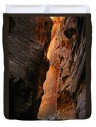 Wallstreet - The Narrows In Zion National Park. Duvet Cover