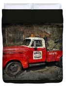Wally's Towing Duvet Cover by David Arment