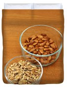 Walnuts And Almonds Duvet Cover