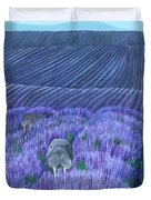 Walruses In A Field Of Lavender Duvet Cover