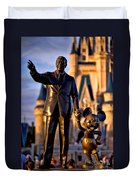 Walt And Mickey Duvet Cover