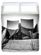 Walt Disney Concert Hall In Black And White Duvet Cover by Paul Velgos
