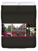 Walt Disney World Transportation 3 Panel Composite 02 Duvet Cover