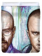 Walter And Jesse - Breaking Bad Duvet Cover