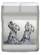Waltzing With You Duvet Cover