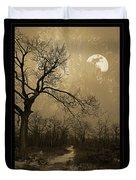 Waning Winter Moon Duvet Cover