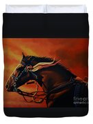 War Horse Joey  Duvet Cover by Paul Meijering