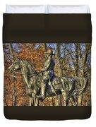 War Horses - Major General John Sedgwick Commanding Sixth Corps Autumn Gettysburg Duvet Cover