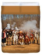 War - Revolutionary War - The Musket Drill Duvet Cover by Mike Savad
