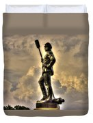 War Thunder - The Clouds Of War 1b - 4th New York Independent Battery Above Devils Den Gettysburg Duvet Cover by Michael Mazaika