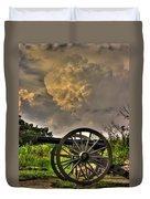 War Thunder - The Clouds Of War 2a - 4th New York Independent Battery Above Devils Den Gettysburg Duvet Cover