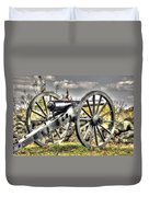 War Thunder - The Letcher Artillery Brander's Battery West Confederate Ave Gettysburg Duvet Cover