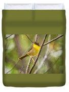 Warbler In Sunlight Duvet Cover