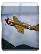 Warhawk Curtiss P-40  Duvet Cover