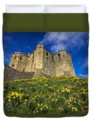 Warkworth Castle In Spring Duvet Cover