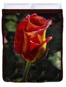 Warm Colored Rosebud  Duvet Cover