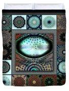 Warm Cosmos Redux Duvet Cover