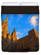 Warm Glow Cathedral - Impressions Of Barcelona Duvet Cover