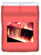 Warm Glowing Fire Log Duvet Cover